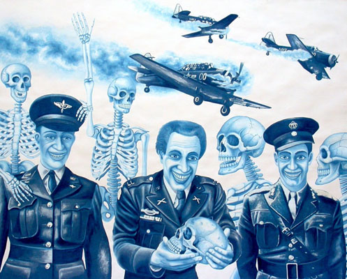 ho-03 Military Plane Crash. 2012, 60 x 75 cm, cyanotype print, gouache and casein on paper.