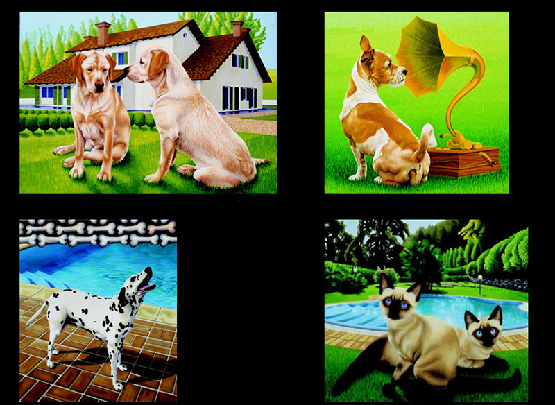 nat-01 Animal Portraits. 2000-2001, size varies, oil on canvas.