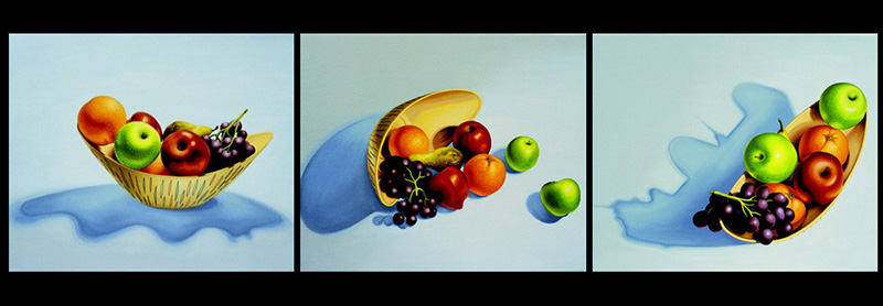 nat-02 Still Life. 2001, 54 x 65 cm each, oil on canvas.