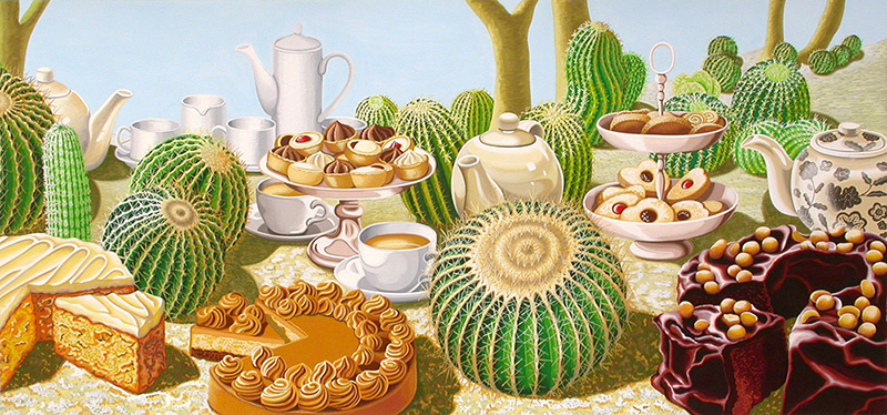 nat-06 Prickly Picnic. 2008, 36 x 67 cm, gouche on paper.