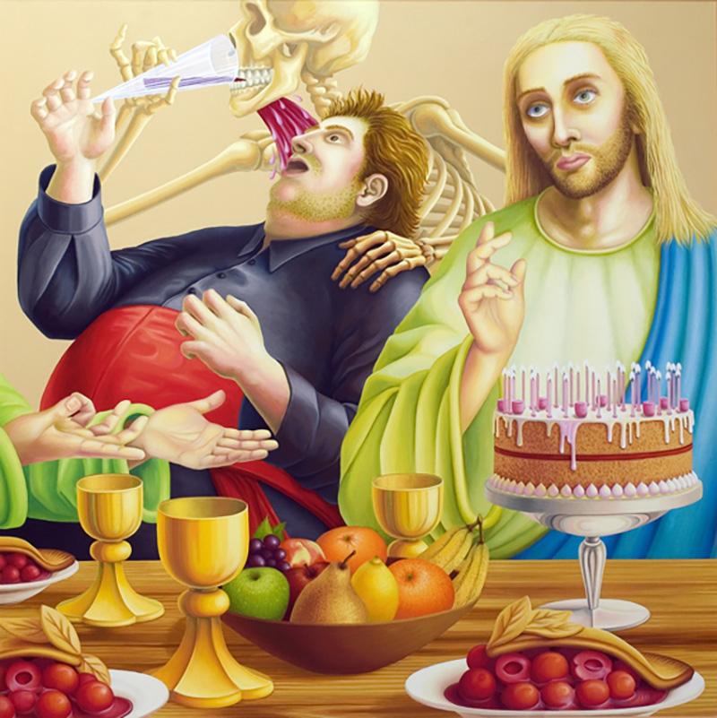 sj-01 Sweet Jesus 2001 100x100cm oil on canvas