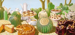Prickly Picnic. 2008, 36 x 67 cm, gouche on paper.