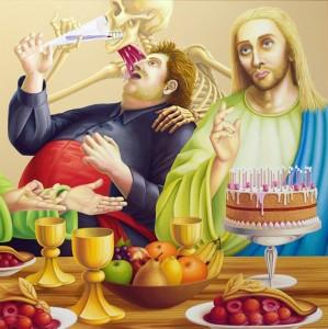 Sweet Jesus. 2001, 100 x 100 cm, oil on canvas.