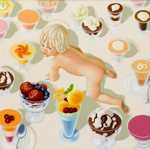 Sweet Jesus going nowhere. 2005, 50 x 50 cm,  oil on canvas.
