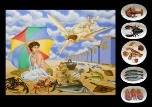 The Annunciation. 2005,  90 x 116 cm,  oil on canvas.