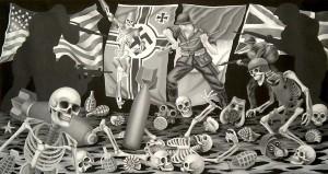 Beachhead - Death's Head! (Anzio 1944) 2011, 56 x 106 cm, oil on canvas.