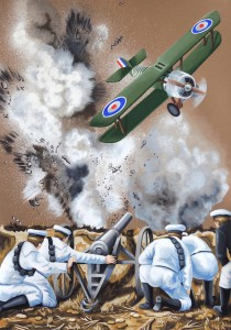 Flying in Formation on a Fine Day VII. 2015, 100 x 70 cm, gouache on paper.